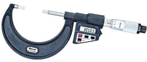 Starrett 786MEP-75 - Pantalla LCD de micrometro sin giro (grosor liso, rango de 50-75 mm, graduación de 0,001 mm)