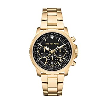 Michael Kors Men s Cortlandt Stainless Steel Analog-Quartz Watch with Stainless-Steel-Plated Strap Gold 18  Model  MK8642