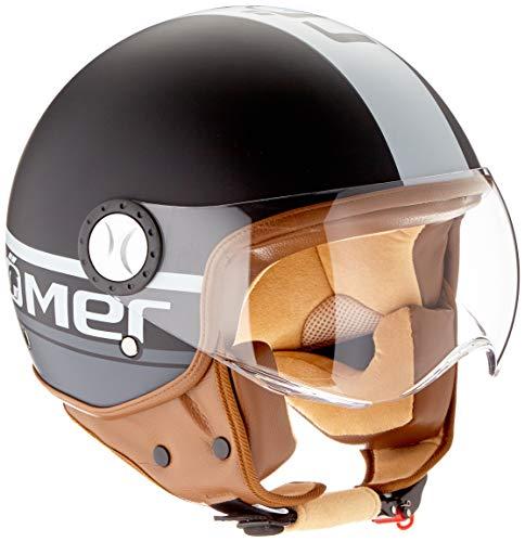 Römer Helmets Motorradhelm Fight, Matt Schwarz/Silber, Größe S