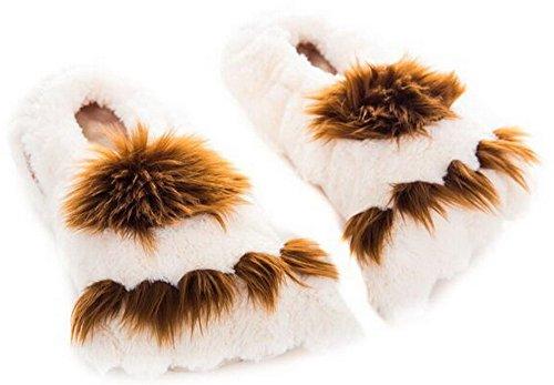 Habibi Plush Classic – 1540 Slippers Big Foot, Gr. M (37-40) Wärmepantoffeln/Wärmeschuhe zum Erwärmen in der Mikrowelle/Backofen
