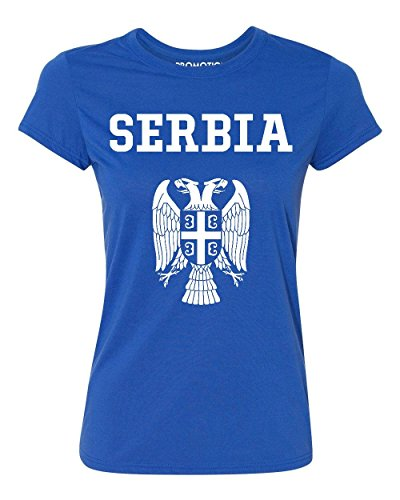 Choose Your Country Flag Serbia Women's T-Shirt, S, Royal