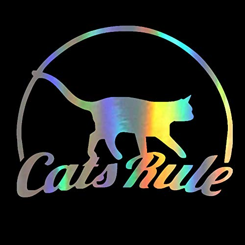 GWCU Car Stickers 14 * 11CM pet cat rules cat fun car decal waterproof car model motorcycle accessories