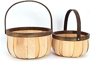 Aharin Hand-Woven GiftBaskets,EasterWoodenBaskets,BerryBaskets, UsedforEaster,Picnics,Gifts,Wedding,HomeDecor...