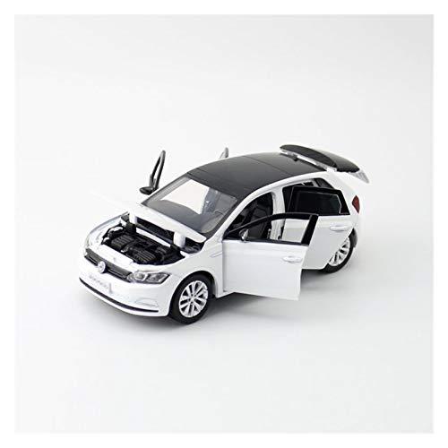 Vehículo Diecast 1:32 para Polo Plus Aleación Modelo Juguete Automóvil Metal Vehículos Fundición Sonido Sonido Luz Modelo Juguete Colección Niño Regalo (Color : Blanco)