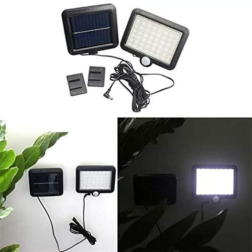 6W accionado solar del sensor de movimiento 56 de pared de luz LED al aire libre de la calle Jardín Patio Seguridad lámpara al aire libre luz de seguridad ligera, conveniente for el jardín, F ZGHE