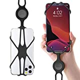 Attache Tour de Cou Téléphone Portable, Etui Universel avec Cordon Détachable Silicone pour iPhone 11 Pro Max XS XR Galaxy S9 Note 9 Pixel 3 XL, Smartphone de 4 à 6.5 inch (2ème Génération)-Noir