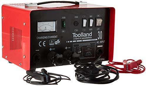 Toolland AC30 Chargeur pour Batterie acide de plomb 12/24 V avec fonction Boost 20 A