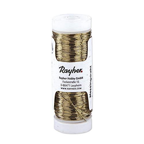 Rayher 2412100 fil métallique laiton 0,30 mm àƒ Weber, bobine 80 m