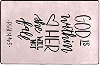 聖書の詩神は彼女の中にあります彼女は落ちません詩篇超柔らかい屋内モダンエリアラグふわふわラグダイニングルームホームベッドルームカーペットフロアマットベビーキッズ犬猫60x39インチ-60x39インチ