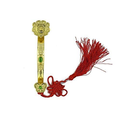 ZSQZJJ Modernos Estatuas Figuritas Adornos de Interior Estatuas Decorativas,Golden Auspicious Ruyi Regalos Decoración para el hogar Feng Shui Adornos Good Fortune