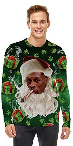 U LOOK UGLY TODAY Unisex Sweatshirt 3D Druck Pullover Weihnachtpullover Hoodie Langarm Bunte Rundhals Sweatjacke für Damen und Herren, Large Size