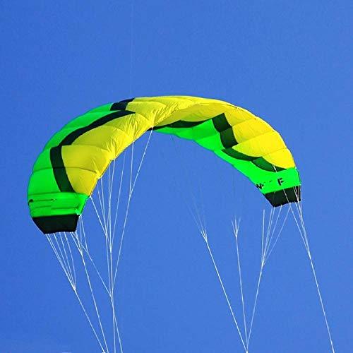 SDCVRE Drachen Professioneller Trainer Kite für Kitesurfen Kiteboarding Grüner 3 qm Outdoor Sport Quad Line Power Lenkdrachen