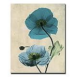 YHZSML Carteles e Impresiones de Flores de Acuarela de Gran tamaño Imágenes Modernas Decoración para el hogar Cuadro Pintura Abstracta de la Lona para la Sala de Estar 1 40x60cm