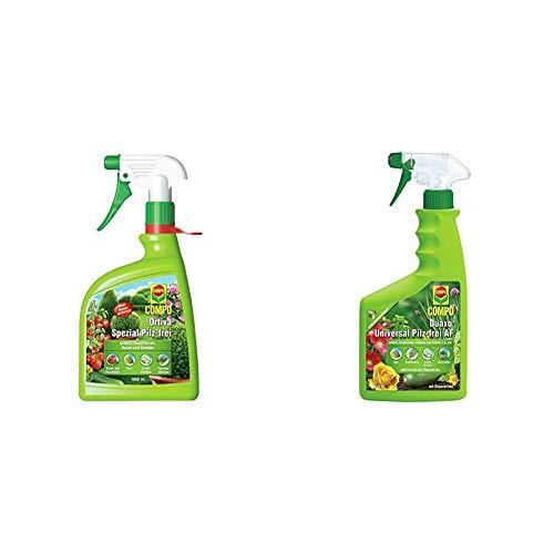 Compo Ortiva Spezial Pilz-frei AF, Bekämpfung von Pilzkrankheiten an Zierpflanzen, Ziergehölzen und Gemüse, 1000 ml + Duaxo Universal Pilz-frei AF, 750 ml