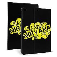 NIRVANA ニルヴァーナロゴ IPad ケース 軽量 薄型 スタンド機能 全面保護 PUレザー 手帳型 Ipad Mini4/5 7.9inch Ipad 2017/2018 9.7inch & Ipad Air 1/2 9.7inch スマートカバー