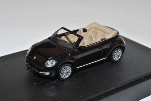 Wiking Volkwagen New Beetle II 2 Schwarz Cabrio Ab 2012 9C H0 1/87 Modell Auto mit individiuellem Wunschkennzeichen
