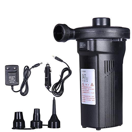 Elektrische Luftpumpe, 2 in 1 Schnellfüll-Inflator Und Deflatorpumpe, Luftbettpumpe Mit 3 Düsen, Haushaltselektrik 100V ~ 240V, Auto Elektrisch 12V