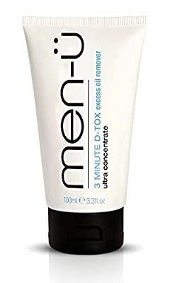 men-u 3 MINUTE D-TOX 100ml Ultra concentrate Vegan face mask for men, up to 40 apps, Effective in 3 MINS. Kaolin clay mens face mask w/Witch Hazel. Clay mask removes excess oil & impurities 100ml by Men-