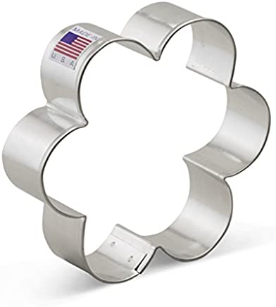 Ann Clark Scalloped Edge / Flower Cookie Cutter - 3.8 Inches - US Tin Plated Steel.