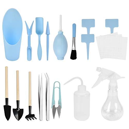 """""""N/A"""" 16 Stück Mini Garten Handwerkzeug Pflanzwerkzeug Gartenwerkzeug Set Sukkulenten Werkzeuge für Sukkulenten, Minigärten im Innenbereich"""