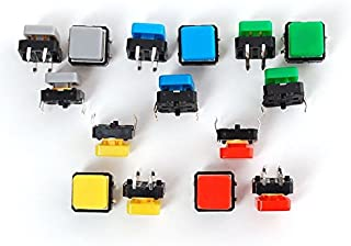 Adafruit Colorful Square Tactile Button Switch Assortment - 15 Pack [ADA1010]