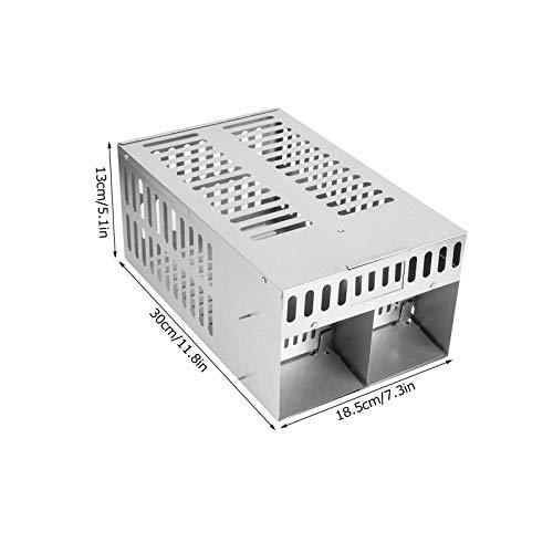Nannigr Trampa para Ratas, Segura y sin ensuciar Fácil de Limpiar Trampas Originales para Ratones Humanos fáciles de Instalar para pequeños roedores/Ratones de Campo/hámsteres/atrapasueños