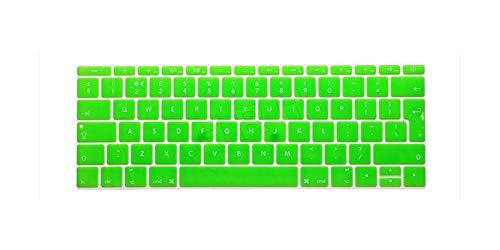 Funda de silicona para teclado de MacBook de 12 pulgadas A1534 Eu/Reino Unido y para Mac New Pro de 13 pulgadas A1708 (versión de 2016 sin barra táctil), verde