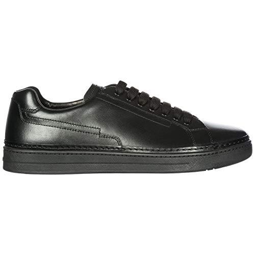 Prada scarpe sneakers uomo in pelle nuove nevada calf nero