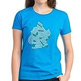 Photo de CafePress Brooklyn NYC Typography Art T-shirt en coton - Bleu - Medium
