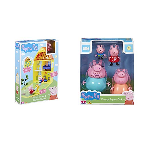 Peppa Pig 06156 Peppa's House & Garden Playset & 06666 Family Figures Pack