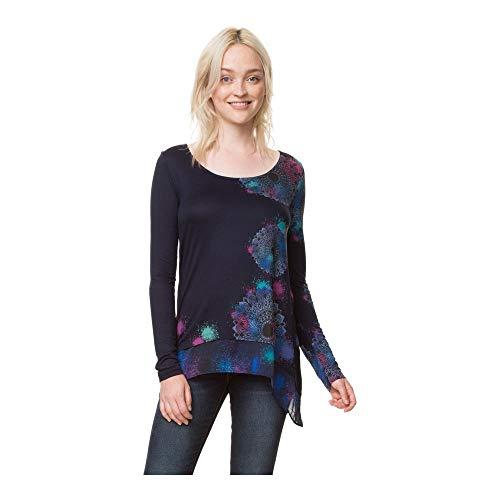 Desigual TS_bolonia Camiseta, (Navy 5000), X-Small para Mujer