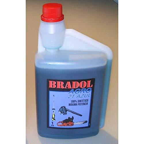 Bradol Agro 2T Azul 1L Aceite Motores 1 L 100% Sintetico