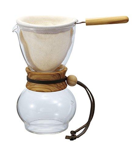 Hario Woodneck Drip Pot, 240ml, Olive Wood