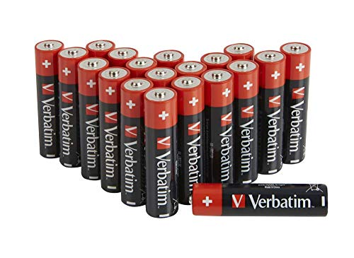 VERBATIM Premium AA-Alkalibatterien I 1,5V I AA-LR6 Mignon I Mignon-Batterien AA I Batterien für MP3-Player, Kamera, Fernbedienung, Rasierapparat UVM I Premium Alkaline-Batterie I 20 Stück