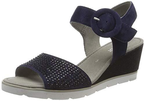 Gabor Shoes Damen Basic Riemchensandalen, Blau (Bluette 16), 42.5 EU