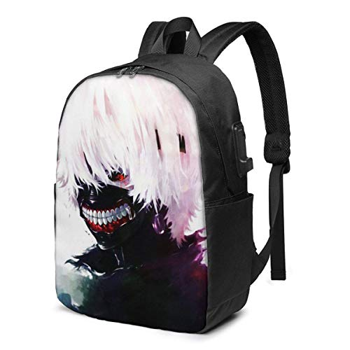 Anime Cartoon Laptop Backpack- with USB Charging Port/Stylish Casual Waterproof Backpacks Fits Most Laptops and Tablets