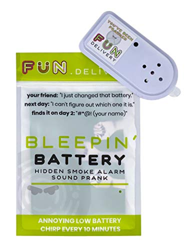 FUN delivery: Bleepin' Battery Hidden Annoying Smoke Alarm Beep Prank Joke Gag Sound