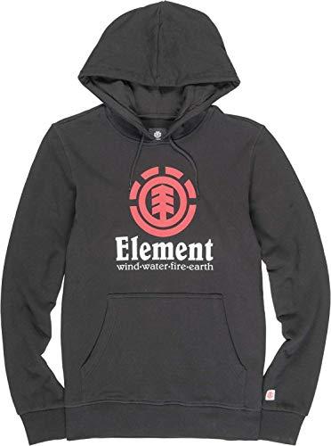 Element Uomo Felpa con Cappuccio Vertical (Flint Black), Größe:XL