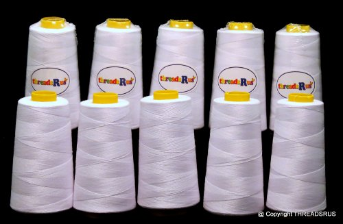 Why Choose ThreadNanny 10 Cones with 3000yds ea. of Polyester Threads for Sewing Quilting Serger Whi...
