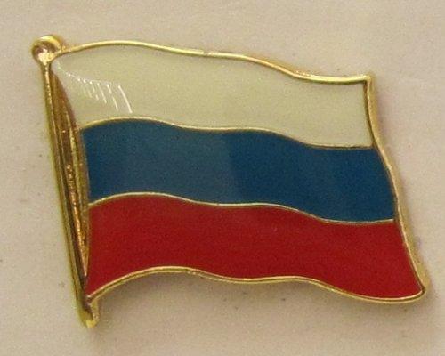Pin Anstecker Flagge Fahne Rußland Nationalflagge Flaggenpin Badge Button Flaggen Clip Anstecknadel