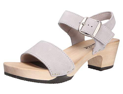 Softclox S3380 KEA - Damen Schuhe Sandaletten - grau, Größe:38 EU