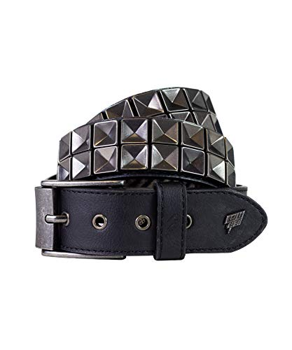 Lowlife Concave Leather Belt, Noir, Medium
