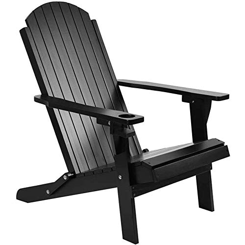 AJH Solid Wood Folding and Reclining Adirondack Chairs, Heavy Duty Weatherproof Patio Chair, for Outdoor Beach