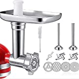 Accesorio para picadora de carne KitchenAid, 12 piezas de metal, accesorio para robot de cocina