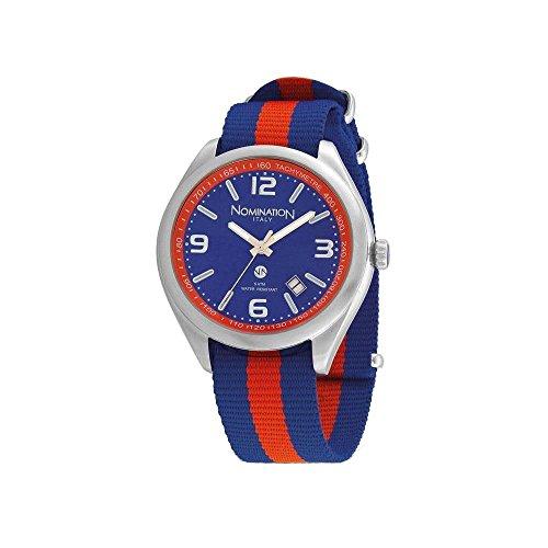 Nomination Herren Analog Quarz Uhr mit Stoff Armband 077100/005