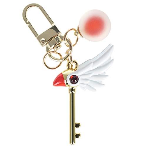 CoolChange Portachiavi di Card Captor Sakura con Bacchetta Magica di Sealing, Dorato, Metallo