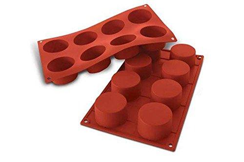 SF028 Molde de Silicona Forma Cilindro 8 cavidades en Color