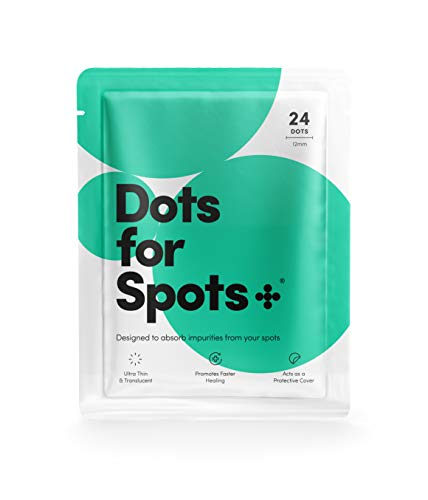 Dots for Spots® Ganador 2020*, Pimple Parches Originales Absorbentes Contra el Acné, No Testados en Animales, 1 Pack (24 Unidades)
