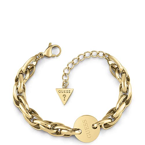 Guess Damen-Armband OVAL Chain Coin Edelstahl One Size Gold 32011714