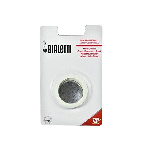 Bialetti Joints - Accesorio de hogar Cappuccino, Silver, 3-Cup